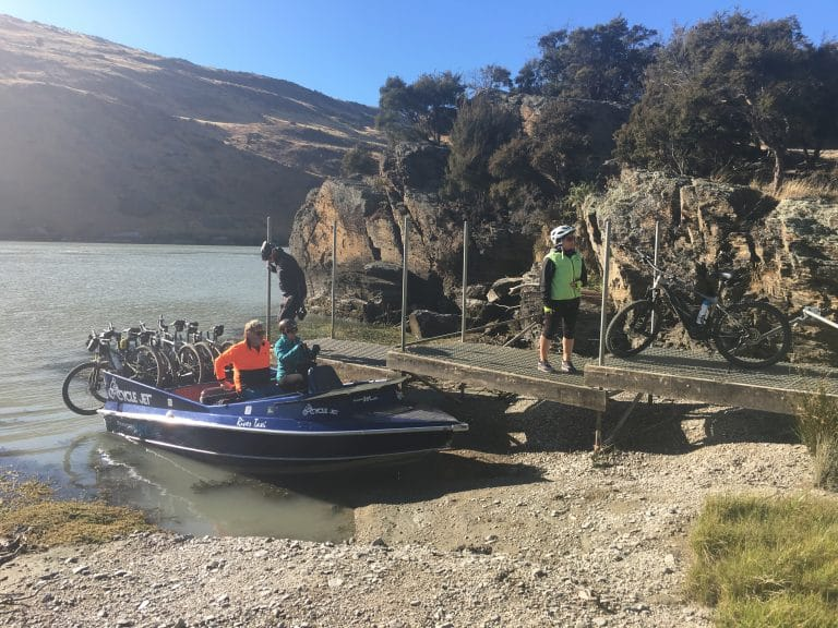 All aboard the Roxburgh Gorge Jet Boat – Clutha Canyon/Escape by Yoga/Escape by Golf