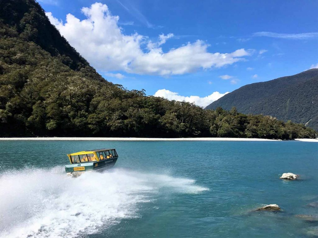 West Coast Wilderness Cycle Tours / Haast River Jet Boat Safari – West Coast Wilderness / Great Southern Circuit